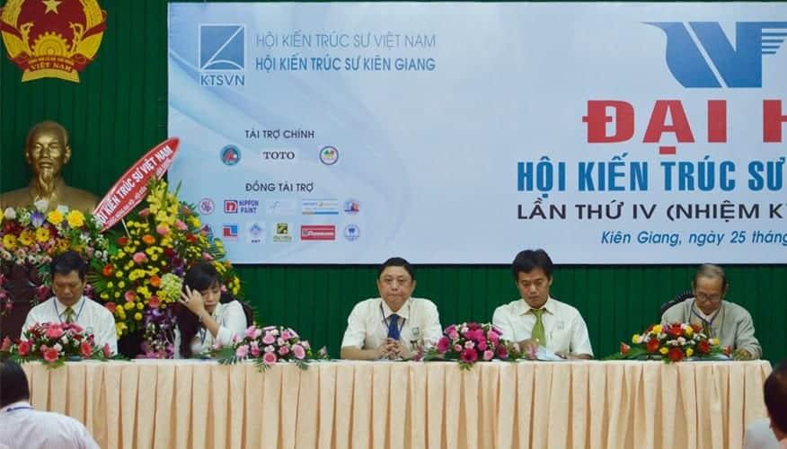 Các đại biểu tham dự đại hội của Hội Kiến trúc sư tỉnh Kiên Giang năm 2015