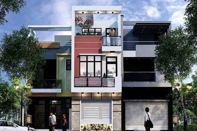 Mẫu nhà 2 tầng 1 tum