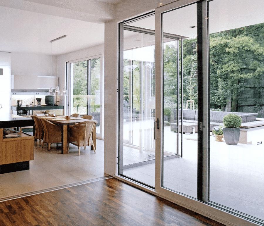 Cửa lùa cách âm nhôm kính mang đến sự sang trọng cho ngôi nhà