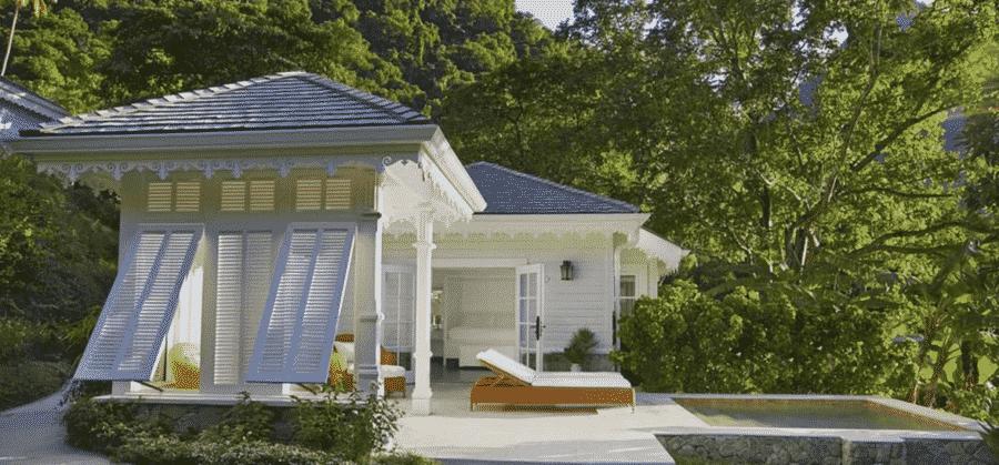 Cửa chớp thông gió cho villa, tách biệt với thế giới