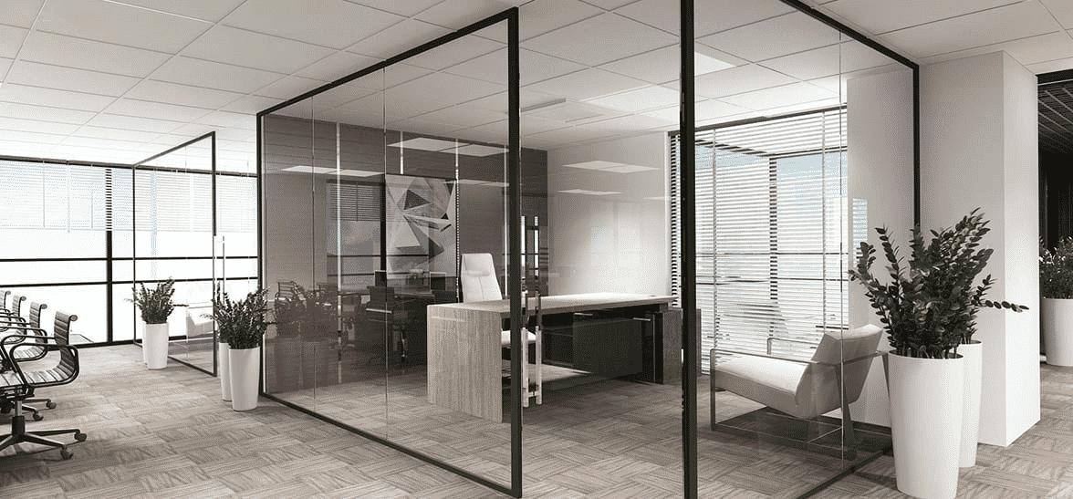 Vách ngăn nhôm kính cho văn phòng