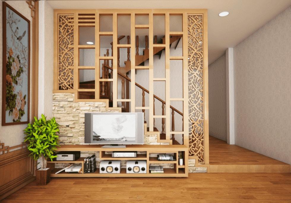 Vách ngăn được làm từ gỗ