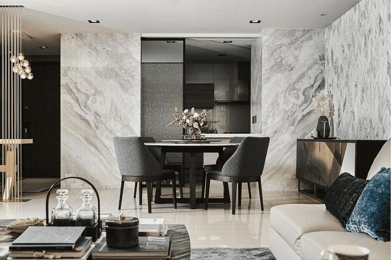 Đá marble sử dụng cho phòng khách và phòng ăn