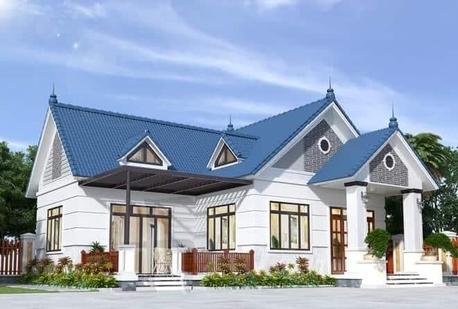 Nhà cấp 4 mái Thái kiểu cổ điển
