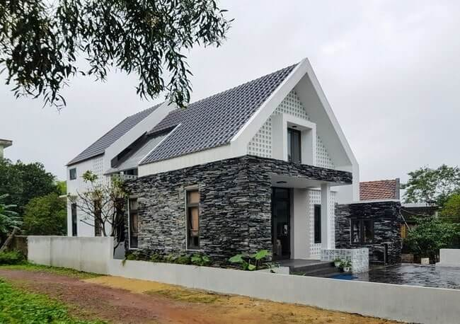 Sử dụng vật liệu khác biệt sẽ tạo nên sự khác biệt cho ngôi nhà