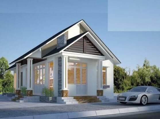 Nhà cấp 4 nhỏ với kiến trúc đơn giản