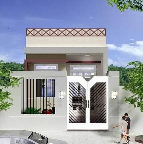 Nhà cấp 4 với mái bằng, phù hợp cho nhiều kiến trúc khác nhau