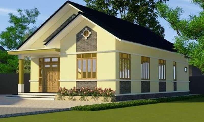 Nhà cấp 4 mái thái được thiết kế theo phong cách hiện đại