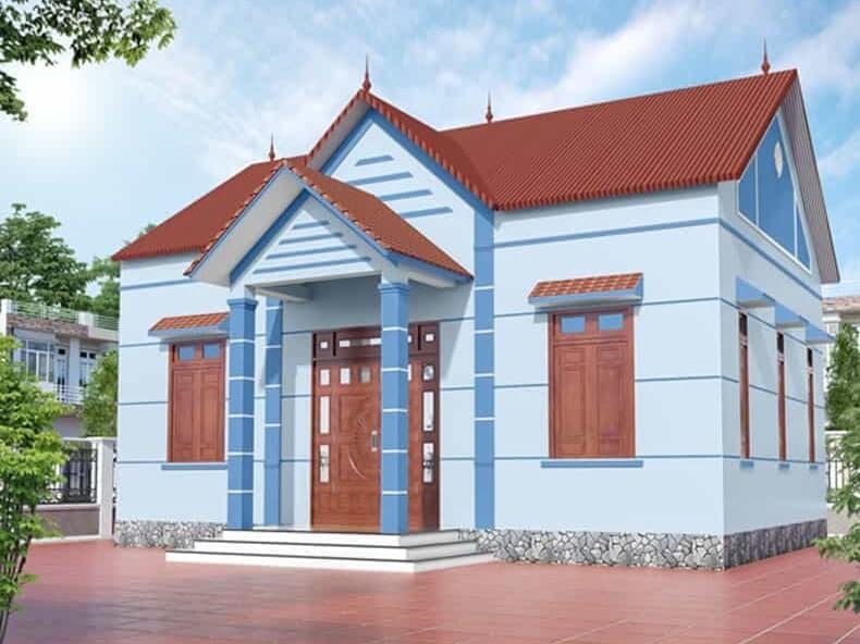 Màu sắc và kích thước nhà mang đậm tính đặc trưng của nhà cấp 4