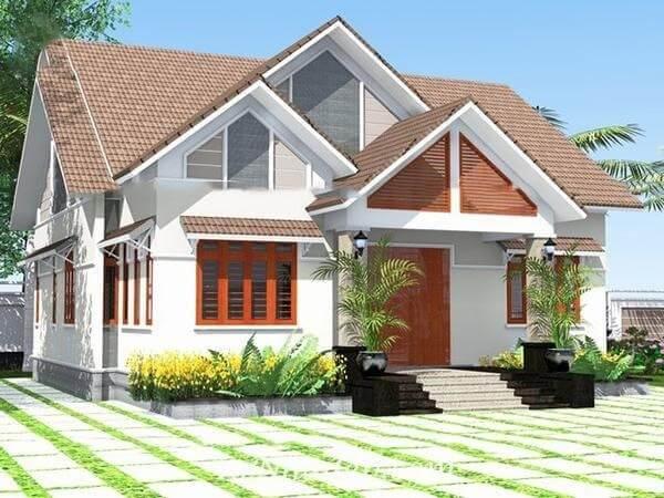 Nhà cấp 4 mái thái được xây dựng dựa trên thiết kế theo xu hướng hiện đại