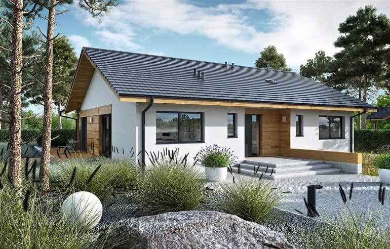 Nhà có sân vườn giúp không gian trở nên mát mẻ hơn