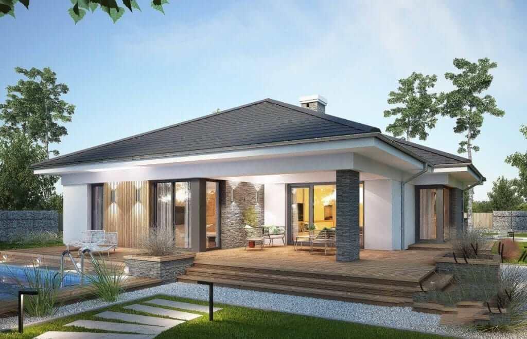 Nhà cấp 4 được thiết kế theo mẫu nhà vườn, tối ưu không gian sinh hoạt
