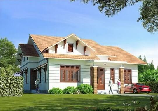Nhà cấp 4 có diện tích lớn và sân vườn phù hợp cho gia đình có nhiều thành viên