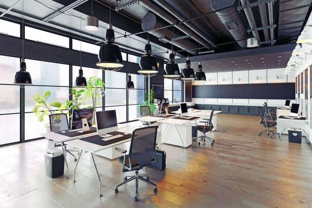 Vật liệu nhôm kính được sử dụng rộng khắp trong văn phòng