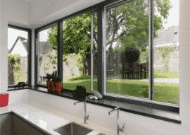 Cửa sổ lùa được ứng dụng rộng rãi cho những ngôi nhà có diện tích nhỏ